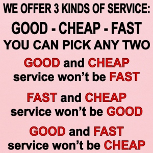 3 Kinds Of Service, Good, Cheap, Fast, Pick 2 - Kids' Hoodie