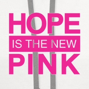hope is the new pink Caps - Contrast Hoodie