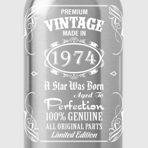 Premium Vintage Made In 1974 T-Shirts - Water Bottle