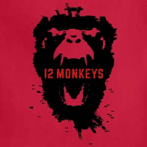 12 Monkeys Scream Stencil Tv Series 2015 Hoodies - Adjustable Apron