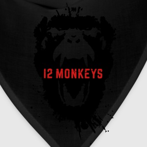 12 Monkeys Scream Stencil Tv Series 2015 Hoodies - Bandana
