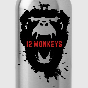 12 Monkeys Scream Stencil Tv Series 2015 Hoodies - Water Bottle