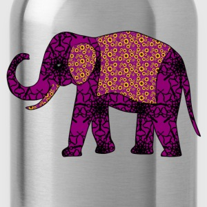 Purple Elephant Sweatshirts - Water Bottle