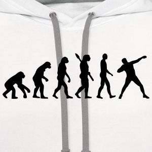 Evolution Shot put T-Shirts - Contrast Hoodie
