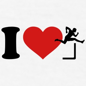 I love Hurdles Mugs & Drinkware - Men's T-Shirt