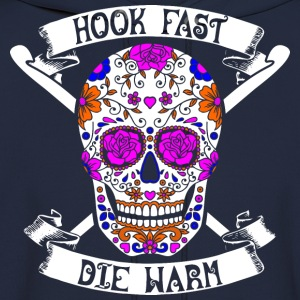 Hook Fast Die Warm Crochet Sew Stitch - Men's Hoodie