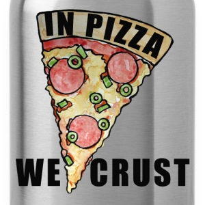 In pizza we crust pizza party - Water Bottle