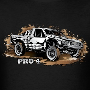 Pro4 Race Truck White Hoodies - Men's T-Shirt