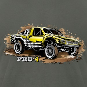 Pro4 Race Truck Yellow Hoodies - Men's T-Shirt by American Apparel