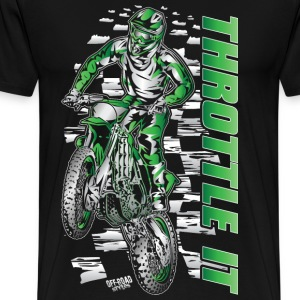 Motocross Throttle It Kawasaki Long Sleeve Shirts - Men's Premium T-Shirt