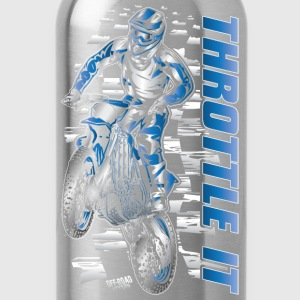 Motocross Throttle It Yamaha Kids' Shirts - Water Bottle