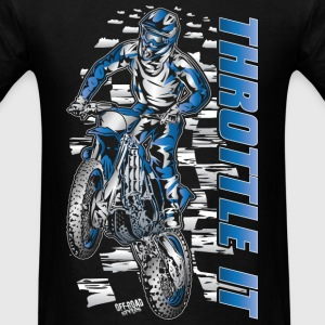 Motocross Throttle It Yamaha Long Sleeve Shirts - Men's T-Shirt