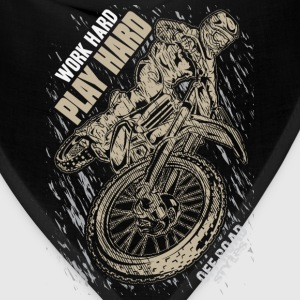 Motocross Play Hard Grey T-Shirts - Bandana