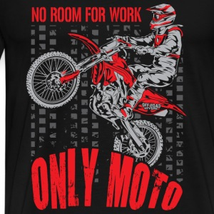 Dirt Bike Only Moto Honda Long Sleeve Shirts - Men's Premium T-Shirt