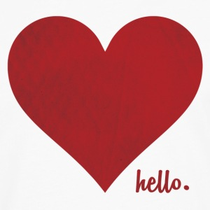 Hello Love  ( Red Heart ) Women's T-Shirts - Men's Premium Long Sleeve T-Shirt