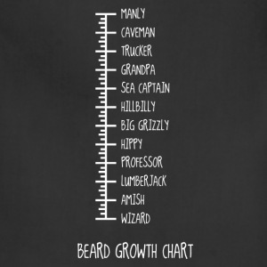 Beard Growth Chart T-Shirts - Adjustable Apron