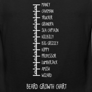 Beard Growth Chart T-Shirts - Men's Premium Tank