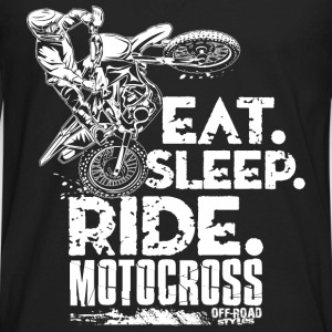 Dirt Bike Eat Sleep Ride Baby & Toddler Shirts - Men's Premium Long Sleeve T-Shirt