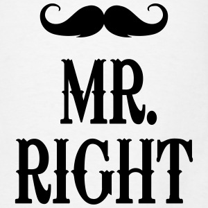 Mr. Right Tanks - Men's T-Shirt