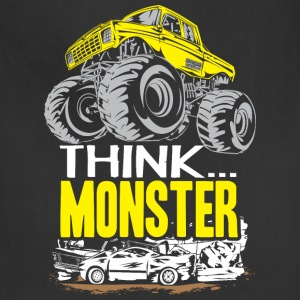 Think Monster Truck Yell Baby & Toddler Shirts - Adjustable Apron