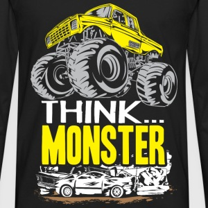 Think Monster Truck Yell Baby & Toddler Shirts - Men's Premium Long Sleeve T-Shirt