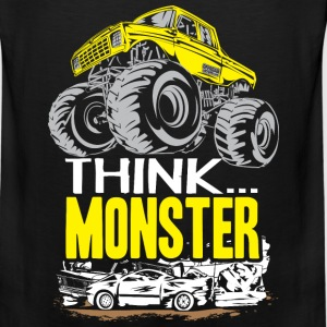 Think Monster Truck Yell Baby & Toddler Shirts - Men's Premium Tank