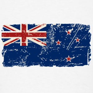 New Zealand Flag - Vintage Look Hoodies - Men's T-Shirt