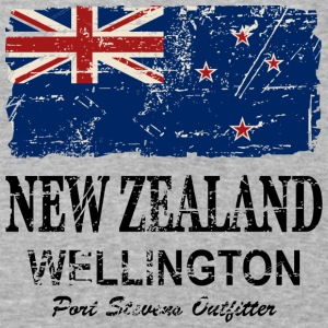 New Zealand Flag - Vintage Look Hoodies - Baseball T-Shirt