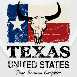 Texas Bull Flag - Vintage Look T-Shirts - Bandana