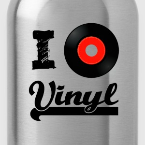 I love Vinyl T-Shirts - Water Bottle