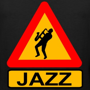 Jazz Caution T-Shirts - Men's Premium Tank