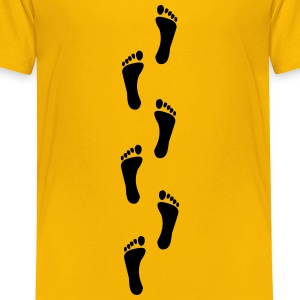 footprints, footprint Kids' Shirts - Toddler Premium T-Shirt