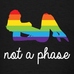 not a phase lesbian LGBT rainbow pride Tanks - Men's T-Shirt