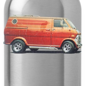 1970s Custom Van (vintage distressed look) - Water Bottle