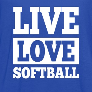Live Love Softball T-Shirts - Women's Flowy Tank Top by Bella