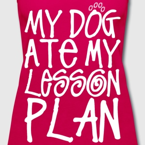 My Dog At My Lesson Plan - Women's Premium Tank Top