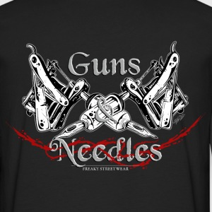 Guns & Needles Hoodies - Men's Premium Long Sleeve T-Shirt