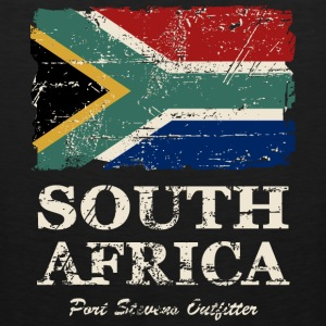 South Africa Flag - Vintage Look  Long Sleeve Shirts - Men's Premium Tank
