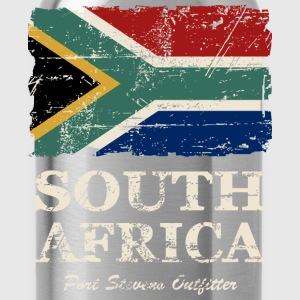 South Africa Flag - Vintage Look  Tanks - Water Bottle