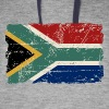 South Africa Flag - Vintage Look  Hoodies - Colorblock Hoodie