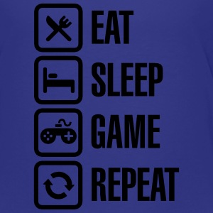 Eat sleep game repeat Kids' Shirts - Toddler Premium T-Shirt