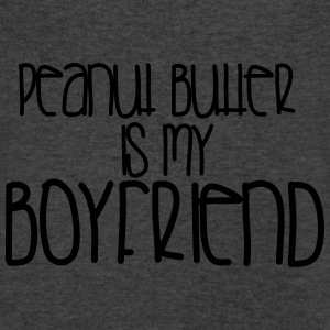 Peanut Butter is My Boyfriend-gray - Men's V-Neck T-Shirt by Canvas