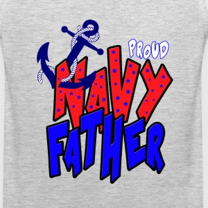 Proud Navy Father T-Shirts - Men's Premium Tank