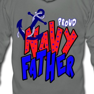 Proud Navy Father T-Shirts - Unisex Fleece Zip Hoodie by American Apparel