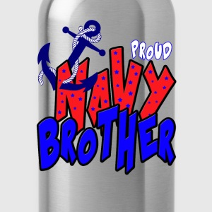 Proud Navy Brother T-Shirts - Water Bottle