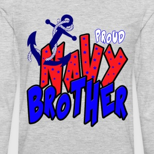 Proud Navy Brother T-Shirts - Men's Premium Long Sleeve T-Shirt