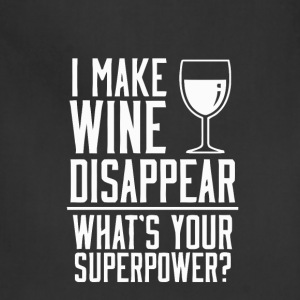 Funny wine superpower t-shirt - Adjustable Apron