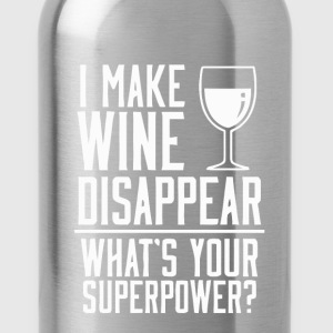 Funny wine superpower t-shirt - Water Bottle