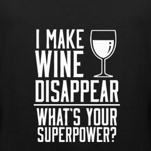 Funny wine superpower t-shirt - Men's Premium Tank