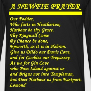 A NEWFIE PRAYER dark - Men's Premium Long Sleeve T-Shirt